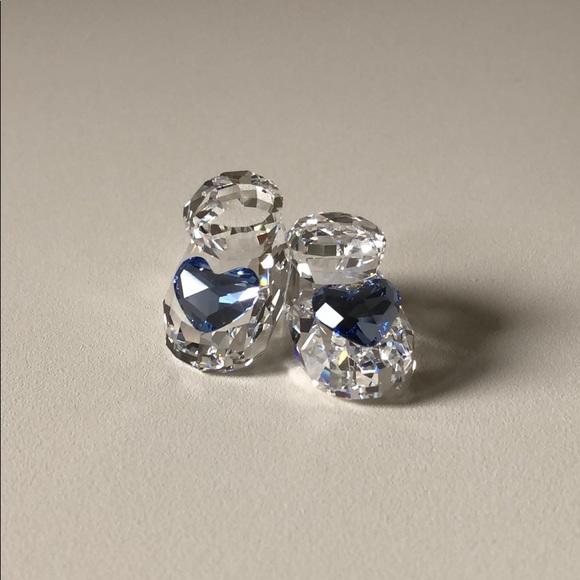 Swarovski Crystal Baby Shoes Blue